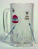 Ginder Ale - Beer mug with handle between 2 logos