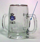 Thier Bräu - Beer mug with 3 handles