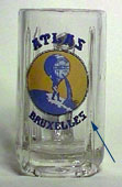 Atlas - Beer mug with 4 vertical edges