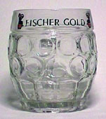 Fischer Gold - Beer mug with round dimples