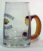 Dortmunder Kronen Bier - Beer mug with brown handle