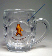 Bière de l'Ours - Beer mug with circular support