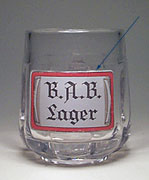 B.A.B. - Beer mug with rectangular support